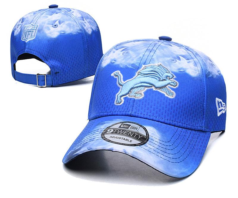 Lions Team Logo Blue Peaked Adjustable Hat YD