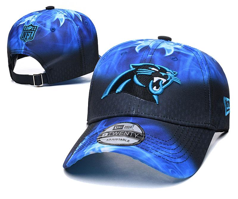 Panthers Team Logo Blue Black Peaked Adjustable Hat YD