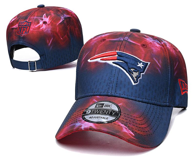 Patriots Team Logo Red Navy Peaked Adjustable Hat YD