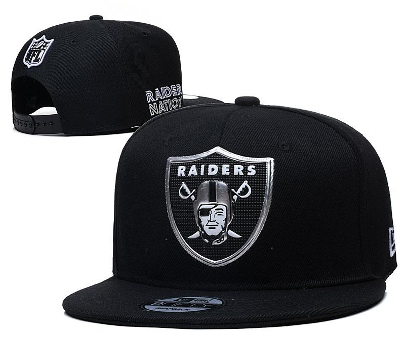 Raiders Team Logo Black Adjustable Hat YD