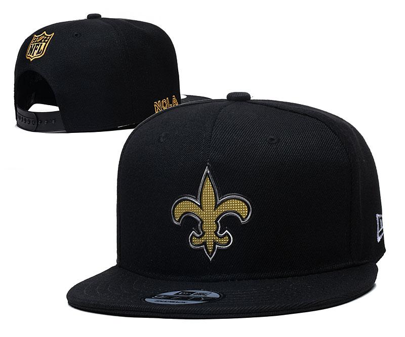Saints Team Logo Black Adjustable Hat YD