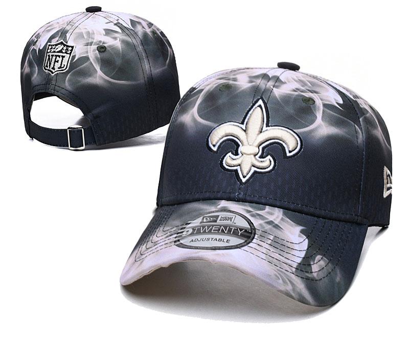 Saints Team Logo Black Gray Peaked Adjustable Hat YD
