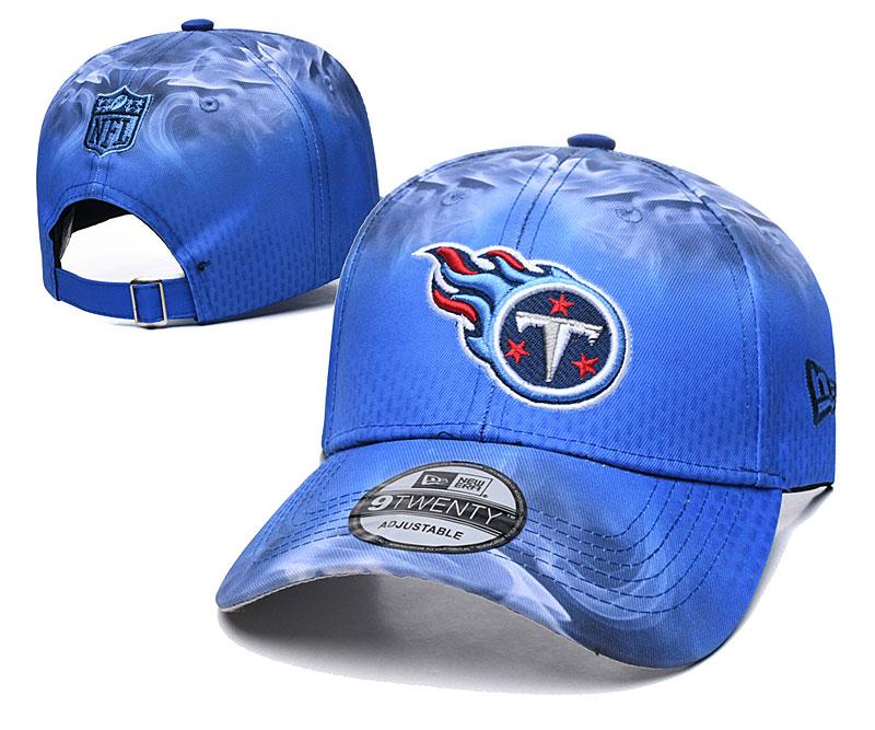 Titans Team Logo Blue Peaked Adjustable Hat YD