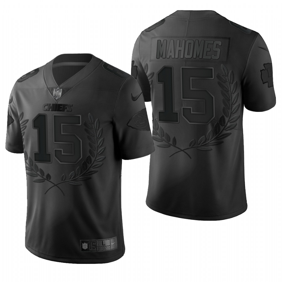 Nike Chiefs 15 Patrick Mahomes Black Commemorative Edition Vapor Untouchable Limited Jersey