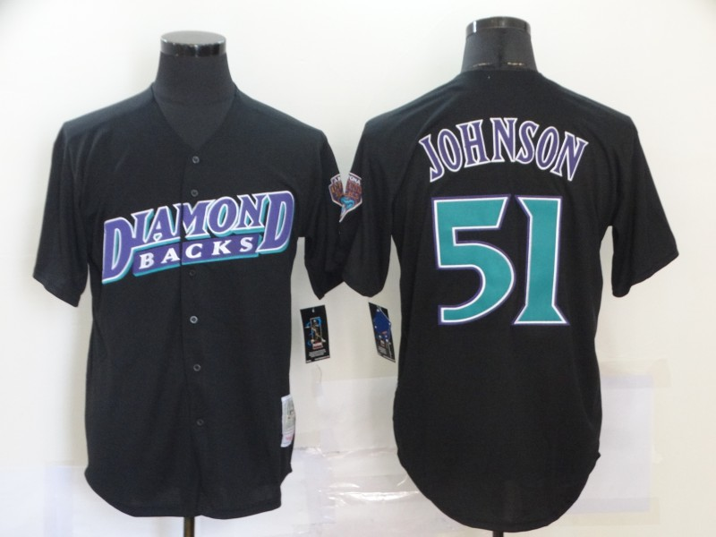 Diamondbacks 51 Randy Johnson Black Cooperstown Collection Jersey
