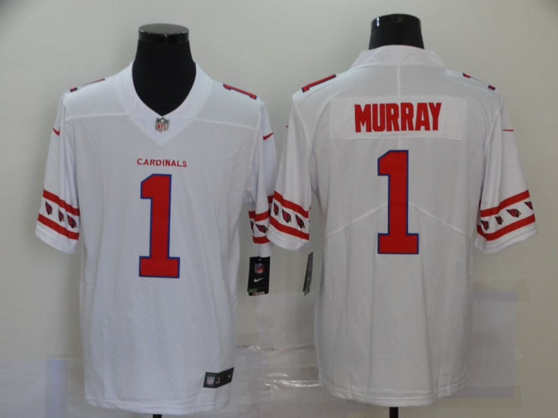 Nike Cardinals 1 Kyler Murray White Team Logos Fashion Vapor Limited Jersey