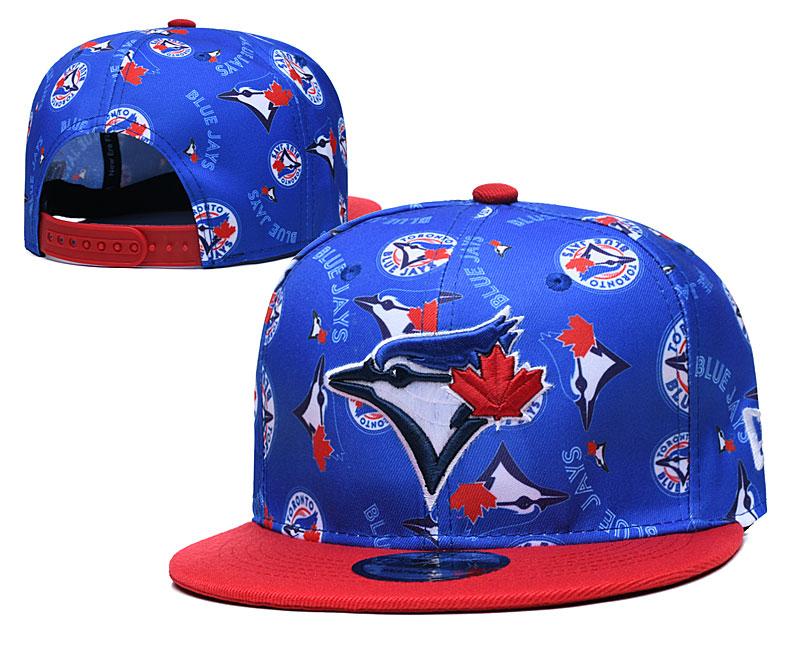 Blue Jays Team Logos Royal Red Adjustable Hat TX