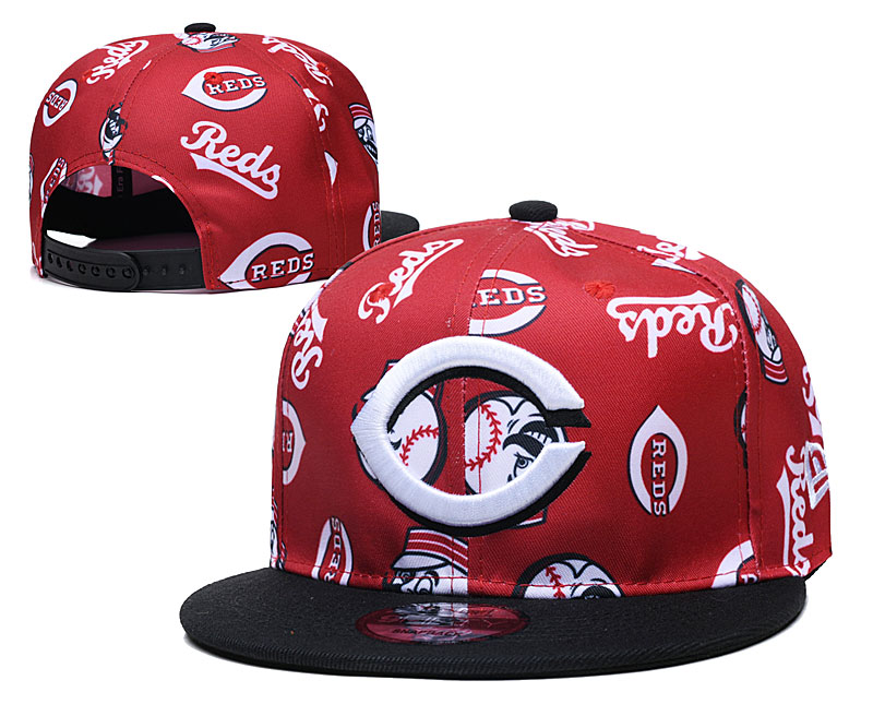 Reds Team Logos Red Black Adjustable Hat TX