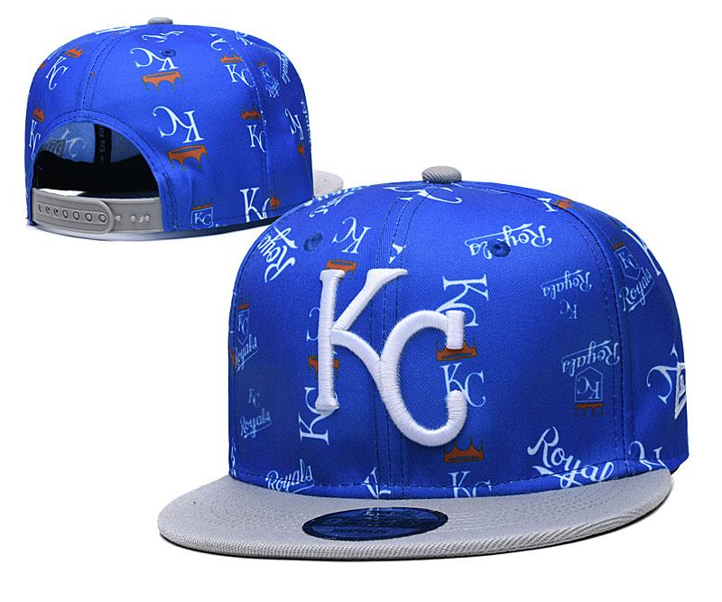 Royals Team Logos Royal Gray Adjustable Hat TX