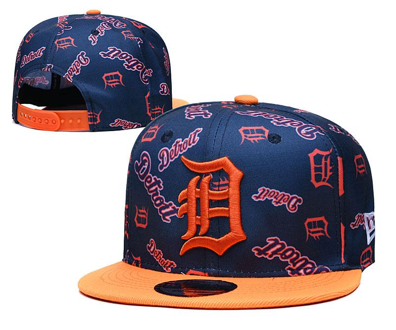 Tigers Team Logos Navy Orange Adjustable Hat TX