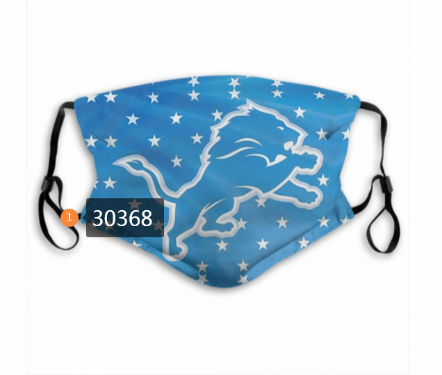 Detroit Lions Team Face Mask Cover with Earloop 30368