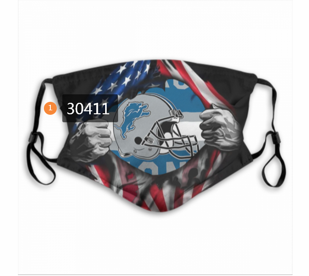 Detroit Lions Team Face Mask Cover with Earloop 30411