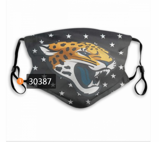 Jacksonville Jaguars Team Face Mask Cover with Earloop 30387