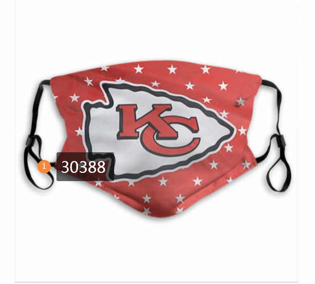 Kansas City Chiefs Team Face Mask Cover with Earloop 30388