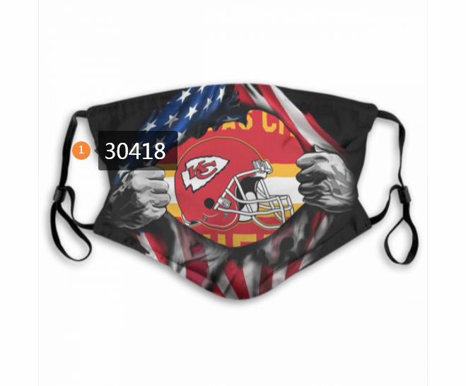Kansas City Chiefs Team Face Mask Cover with Earloop 30418