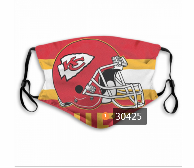 Kansas City Chiefs Team Face Mask Cover with Earloop 30425