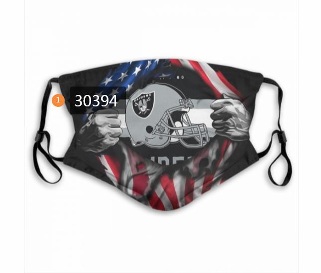 Las Vegas Raiders Team Face Mask Cover with Earloop 30394
