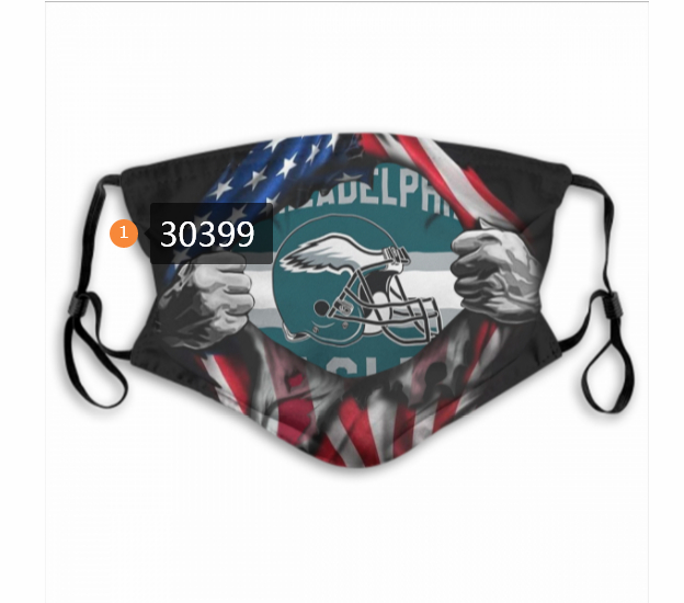 Philadelphia Eagles Team Face Mask Cover with Earloop 30399