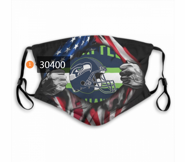 Seattle Seahawks Team Face Mask Cover with Earloop 30400