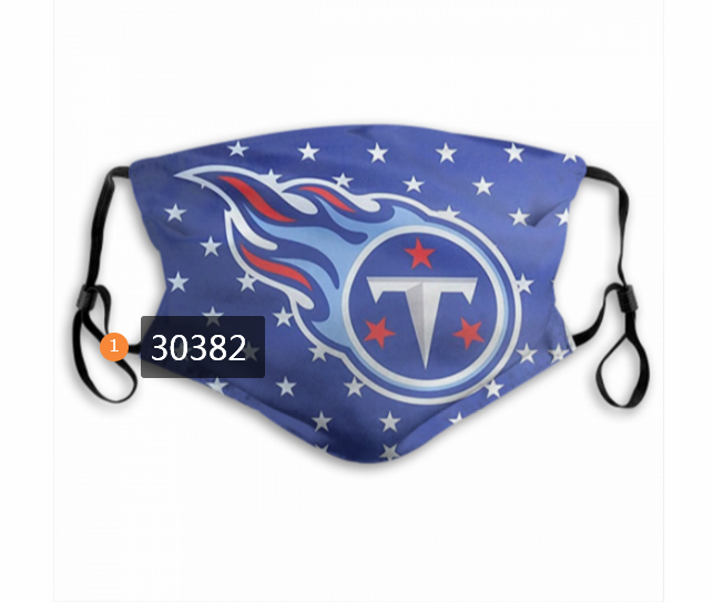 Tennessee Titans Team Face Mask Cover with Earloop 30382