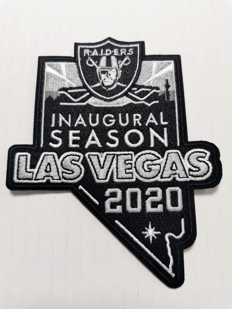 Las Vegas Raiders Inaugural 2020 Season Patch