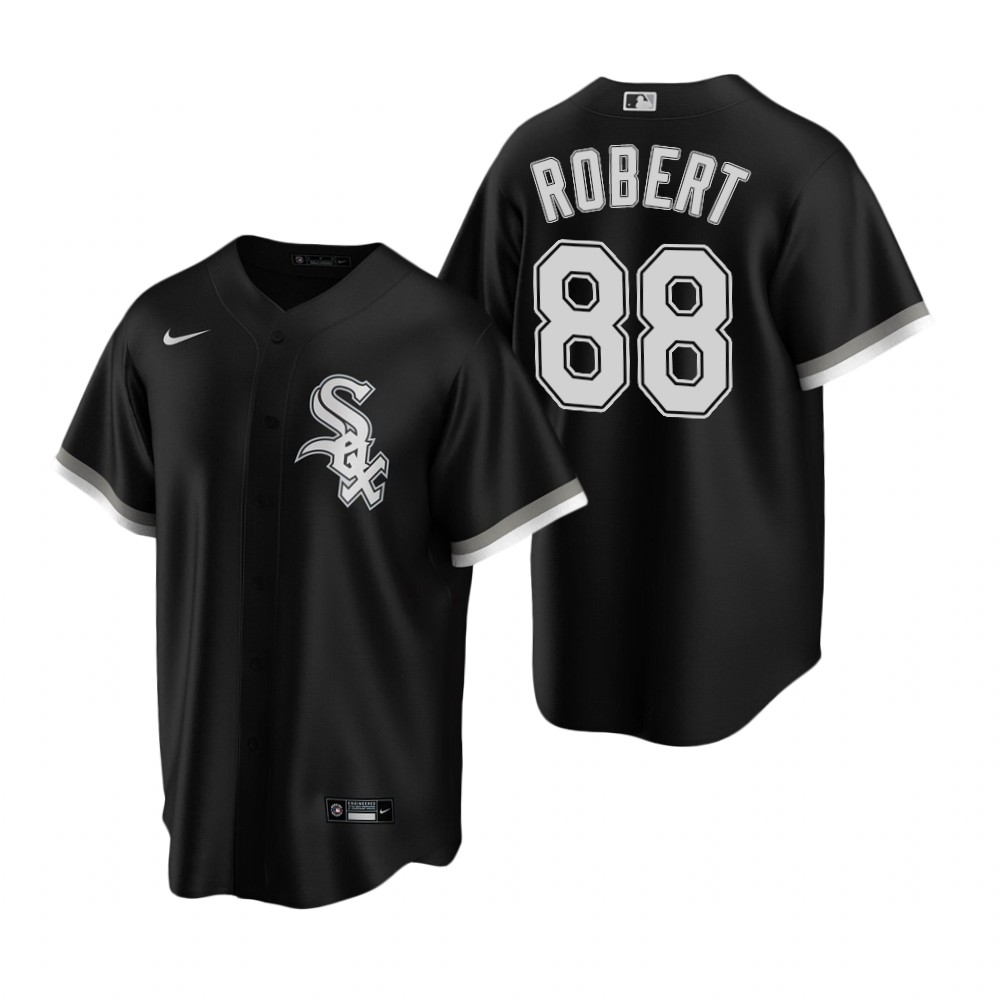 White Sox 88 Luis Robert Black 2020 Nike Cool Base Jersey