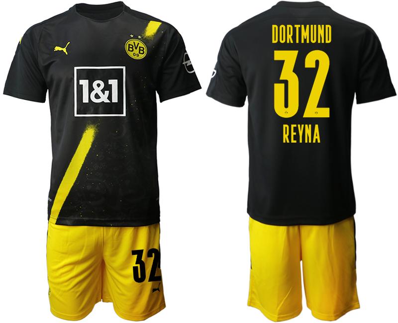 2020-21 Dortmund 32 REYNA Away Soccer Jersey