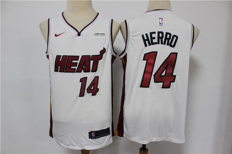 Heat 14 Tyler Herro White Nike Swingman Jersey