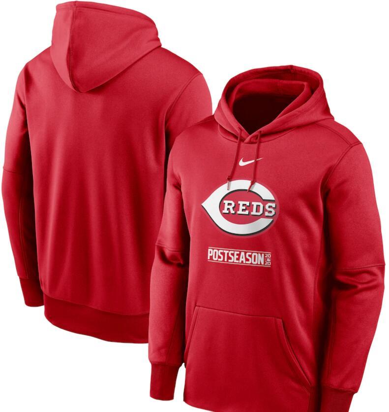 Men's Cincinnati Reds Nike Red 2020 Postseason Collection Pullover Hoodie