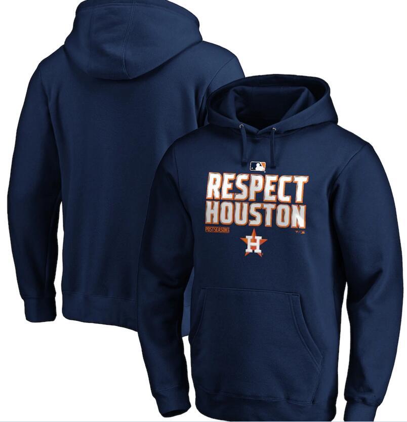 Men's Houston Astros Navy 2020 Postseason Collection Pullover Hoodie