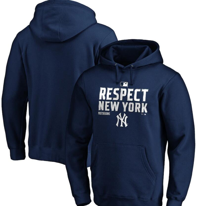 Men's New York Yankees Navy 2020 Postseason Collection Pullover Hoodie