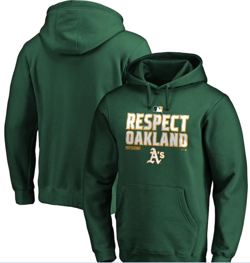 Men's Oakland Athletics Green 2020 Postseason Collection Pullover Hoodie