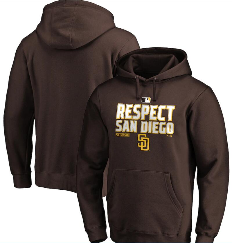 Men's San Diego Padres Brown 2020 Postseason Collection Pullover Hoodie