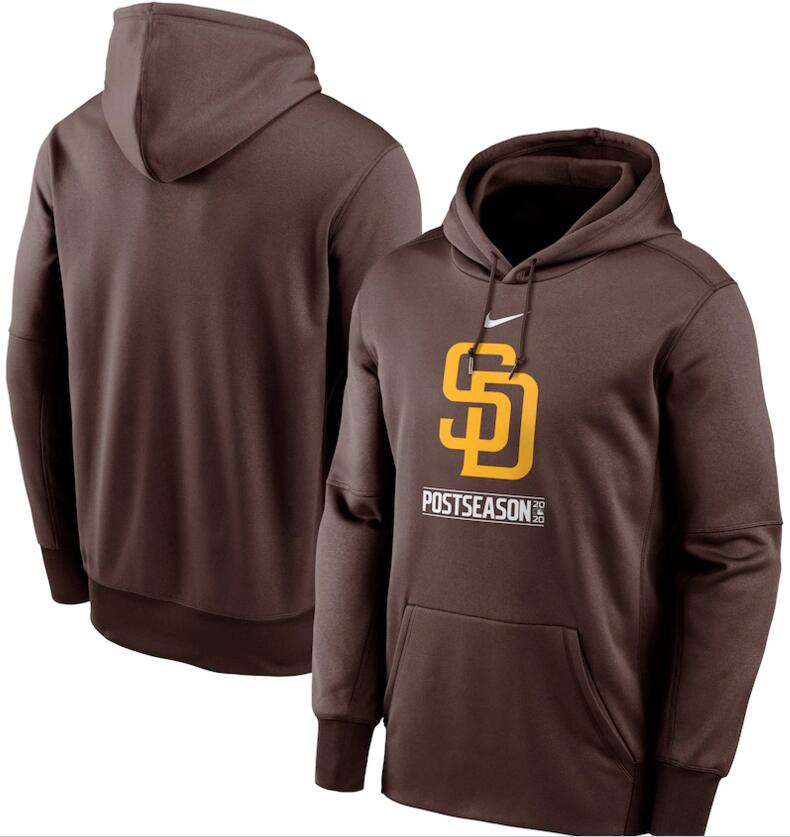 Men's San Diego Padres Nike Brown 2020 Postseason Collection Pullover Hoodie
