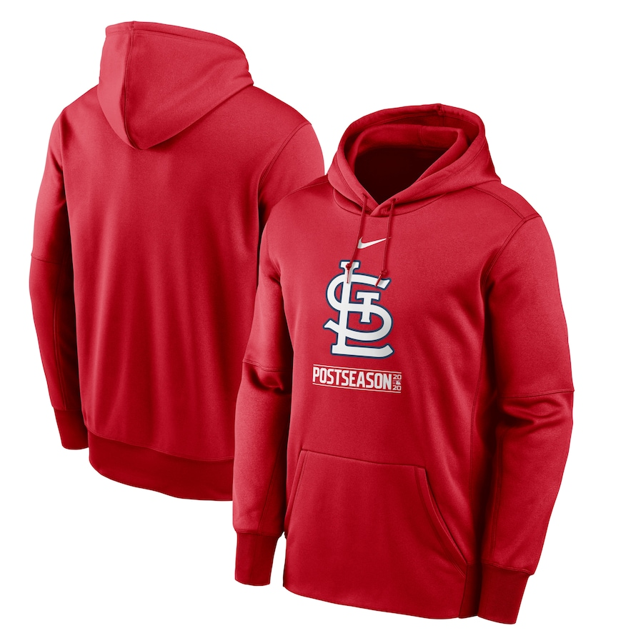 Men's St. Louis Cardinals Nike Red 2020 Postseason Collection Pullover Hoodie