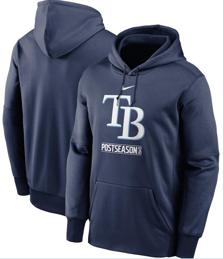 Men's Tampa Bay Rays Nike Navy 2020 Postseason Collection Pullover Hoodie