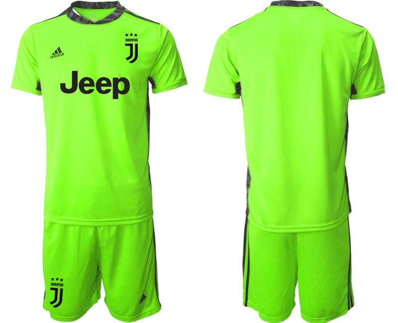 2020-21 Juventus Fluorescent Green Goalkeeper Soccer Jersey