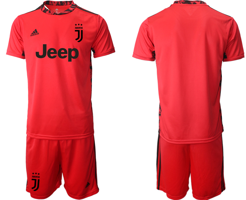 2020-21 Juventus Red Goalkeeper Soccer Jersey
