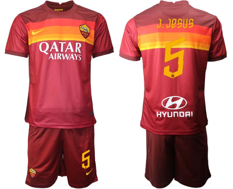 2020-21 Roma 5 J.JESUS Home Soccer Jersey