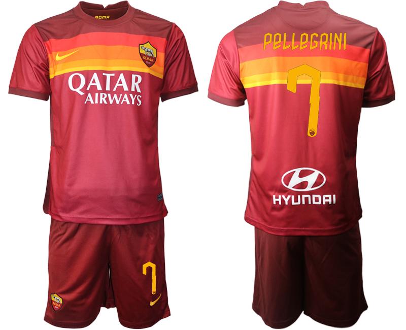 2020-21 Roma 7 PELLEGRINI Home Soccer Jersey