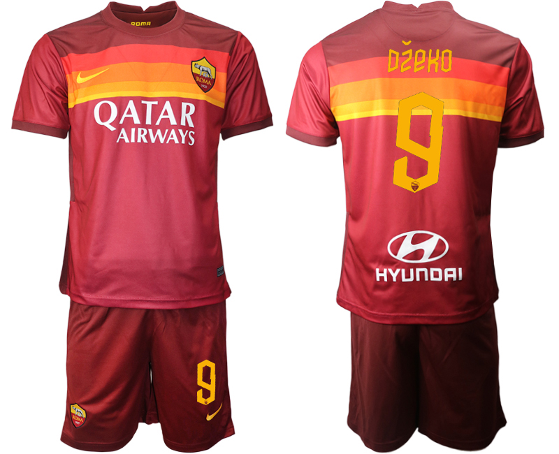2020-21 Roma 9 DZEKO Home Soccer Jersey