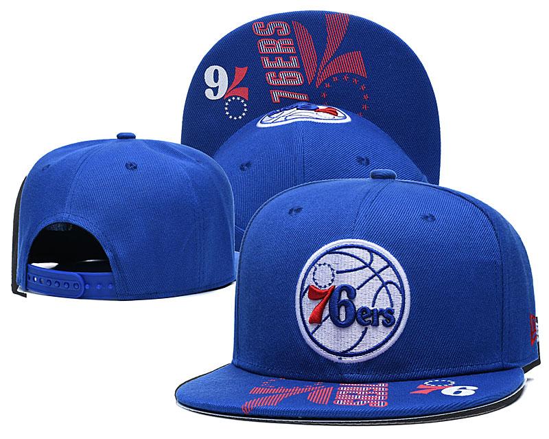 76ers Team Logo Blue Adjustable Hat GS