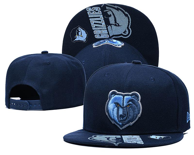 Grizzlies Team Logo Navy Adjustable Hat GS