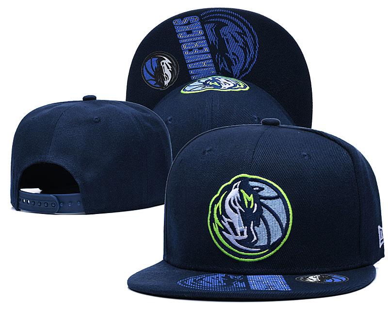 Mavericks Team Logo Navy Adjustable Hat GS