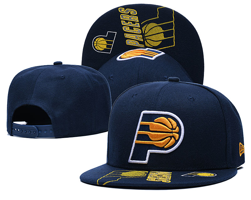 Pacers Team Logo Navy Adjustable Hat GS