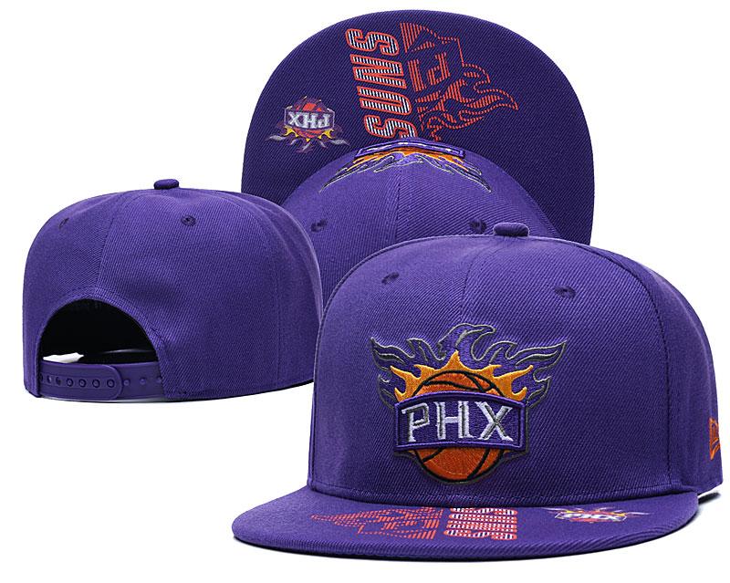 Suns Team Logo Purple Adjustable Hat GS