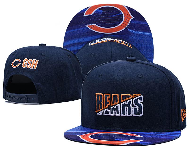 Bears Team Logo Navy 2020 NFL Summer Sideline Adjustable Hat YD