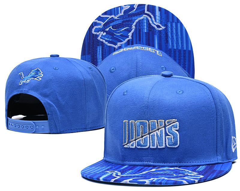 Lions Team Logo Blue 2020 NFL Summer Sideline Adjustable Hat YD