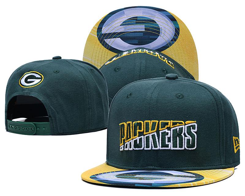 Packers Team Logo Green 2020 NFL Summer Sideline Adjustable Hat YD