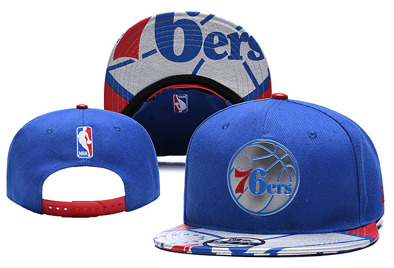 76ers Team Logo Blue Adjustable Hat YD